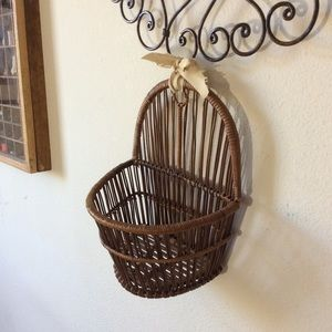Vintage Accents - Bohemian Hanging Wall Decor Basket